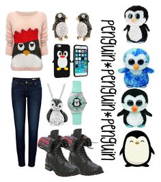 """""""penguins"""" by lindsey-clevenger ❤ liked on Polyvore featuring Lipsy, Anine Bing, Hansen, Ty and Amanda Rose Collection"""
