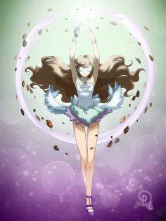 Sailor Elunara executing her Terra Fusion Slash technique! by drachea rannak