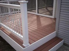 Vinyl Rails with Basket Balusters for Deck and Screened Porch, St. Louis, Mo - Railing Photo Gallery - Archadeck of West County & St. Charles County