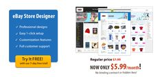 eBay store design now for only $5.99 a month!