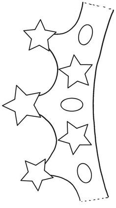 Coronas infantiles para colorear - Imagui Art For Kids, Crafts For Kids, Diy Crafts, Crown Printable, Application Pattern, Alphabet Templates, Diy Birthday Banner, Crown Template, Plate Crafts