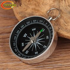 Mini Pocket Compass W 1 Dragonne Camping Randonnée Outdoors Keychain USA Vendeur Un
