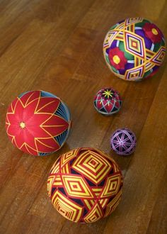 Japanese traditional hand-made balls, Temari
