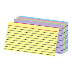 Office Depot Brand Ruled Rainbow Index Cards, x Assorted Colors, Pack Of 100 Eco Label, Office Depot, Index Cards, Color Card, Coding, Rainbow, Organization, Writing, Studying
