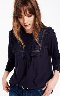DANJA TOP Inspiration Mode, Ruffle Blouse, Portrait, Casual, Shirts, Painting, Tops, Women, Fashion