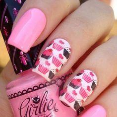 cupcake nails OMGOMG ♥