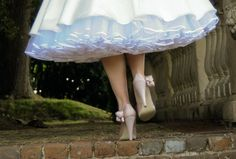 wedding photo - pale blue petticoat