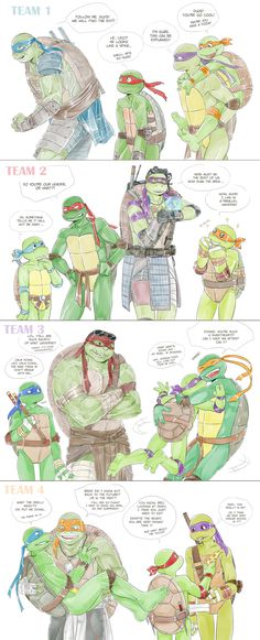 MultyTMNT by LinART on DeviantArt<--I laughed way more than I should haveXD