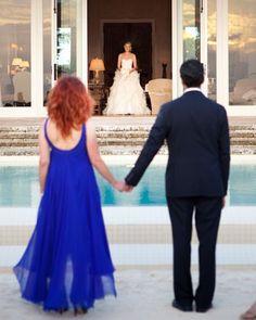 Parents and bride