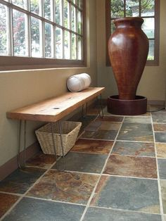 Modern Reclaimed Rustic Wood Plank Bench with by thezenartist, $195.00...yeah but I'm looking at my old french quarter floor tiles that I miss...