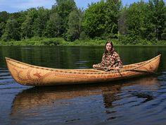 Birchbark canoe by Maine builder Steve Cayard
