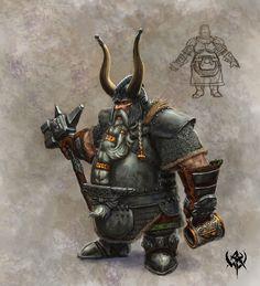 Warhammer Online Concept Art Dwarf