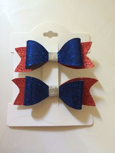 4th of July bows {blue} by LaceysBowtiqueCo on Etsy