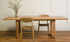 Blackbutt Contemporary Dining Table with mitred tenon legs Timber Dining Table, Oak Dining Chairs, Contemporary Dining Table, Furniture Dining Table, Living Furniture, Contemporary Furniture, Dining Tables, Dining Room, Solid Oak Furniture