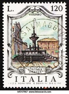 postage stamps from italy | Postage stamp Italy 1979 Great Fountain, Viterbo, Italy | vintage
