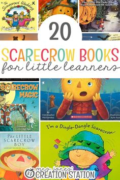 Fill your library with these fun scarecrow themed books and/or add them to a fun scarecrow unit in your classroom! Here are 20 Scarecrow Books for Little Learners to help you get started! Autumn Activities, Toddler Activities, Thanksgiving Activities, Craft Activities, Preschool Books, Fall Preschool, Preschool Ideas, Halloween Halloween, Vintage Halloween