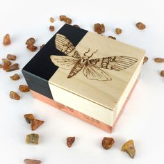 Lambs, Pyrography, Gold Leaf, Wooden Boxes, Wedding Favors, Moth, Gift Wrapping, Unique Jewelry, Illustration