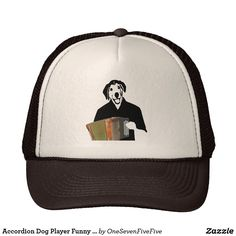 Accordion Dog Player Funny Cajun Music Trucker Hat 0afaf7c0d233