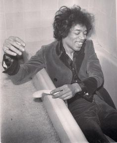 Jimi Hendrix, 1967 - I think this is who Jimi really was under the glitz and gimmicks. He was a funny, shy genius.