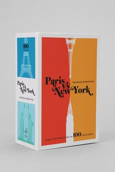 Paris Versus New York Postcard - Set of 100  #UrbanOutfitters