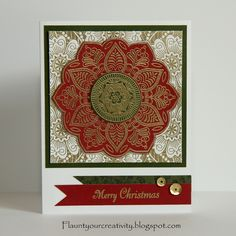 Flaunt Your Creativity: Jump On It July Blog Hop, CTMH Exotic Flower Christmas Cards To Make, Holiday Cards, Christmas Crafts, Christmas Ideas, Paper Hearts, Heart Cards, Exotic Flowers, Close To My Heart, Stampin Up Cards