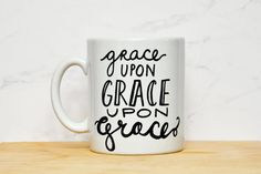 Grace Upon Grace Lettered 11oz God Christian by HelloAwesomeShop