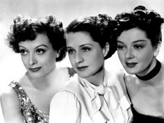 """Joan Crawford, Norma Shearer and Rosalind Russell in """"The Women,"""" 1939."""