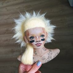 A personal favourite from my Etsy shop https://www.etsy.com/listing/474536379/yolandi-cloth-bust-with-tattoos-die