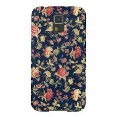 Elegant Vintage Floral Rose Samsung Galaxy S5 Case