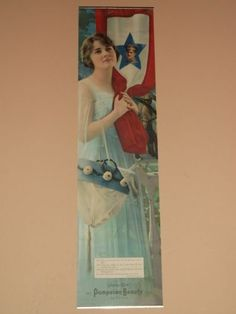 Brilliant Pompeian Liberty Girl Picture By Forbes 1919 Frame Wwi Yard Long Collectibles
