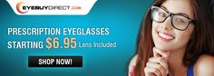 Prescription eyeglasses online from $6.95. 100% Satisfaction guaranteed. High quality lenses and fashion designer frames.