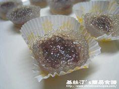 豆沙西米糕 【清甜可口小食】Steamed Tapioca Red Bean Cake from 簡易食譜
