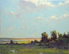 Mid-Afternoon, August by Marc Hanson Oil ~ 16 x 20