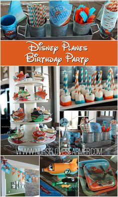 We had a Disney Planes birthday party for Braden's birthday! Included are Disney Planes inspired cupcakes, printables, DIY decorations, and more! First Birthday Themes, 4th Birthday Parties, Birthday Fun, First Birthdays, Birthday Ideas, Disney Planes Birthday, Disney Planes Party, Cumpleaños Diy, Airplane Party