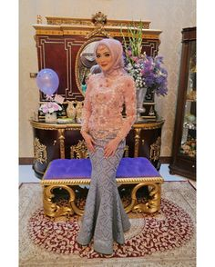 Hijab Gown, Kebaya Hijab, Hijab Dress Party, Kebaya Muslim, Party Gowns, Kebaya Lace, Batik Kebaya, Kebaya Dress, Blouse Dress