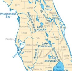 Floridaaftersearisejpg United States Information - Florida lakes map