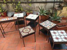 Decor, Mosaic Table, Table, Ceramic Decor, Pretty Tables, Tile Tables, Tile Furniture, Tile Top Tables, Reupholster Furniture