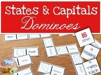 Practice Matching The 50 States And Capitals Divided Into Four Regions With This Fun Matching Game