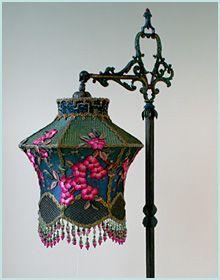Pair of Spanish  lampshades