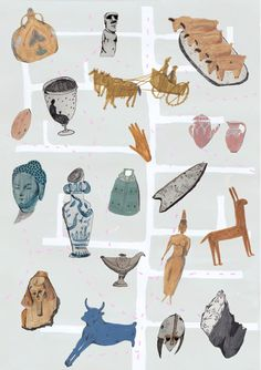 Amyisla McCombie - British Museum map project - work in progress!