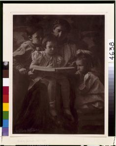 [Woman and children reading] | Creator(s): Käsebier, Gertrude, 1852-1934, photographer Date Created/Published: [ca. 1900]
