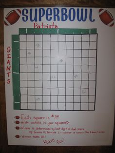 Superbowl this would be fun @Aimée Gillespie Lemondée Gillespie Rogers lord knows the boys will want to bet!