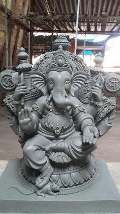 Om Ganesh, Shri Ganesh Images, Clay Ganesha, Ganesh Chaturthi Images, Ganesh Lord, Ganesh Idol, Ganesha Pictures, Ganesha Painting, Ganesha Art