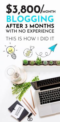 Great tips for starting a money making blog! Learn how to go from $0 to over $3,800 after 3 months working part-time on my blog with NO experience. Pinning for later! Blogging for beginners | Make Money From Home | Blogging For Money |