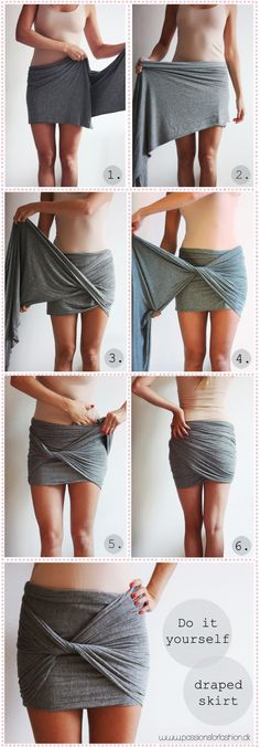 Repost: DIY draped skirt