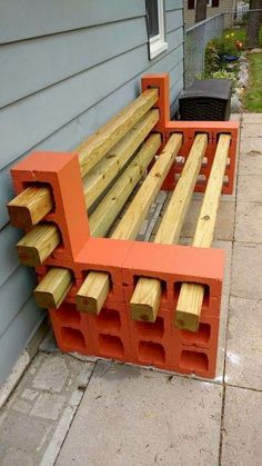 and reduce: decorate with cement blocks - Ann Ford - Diy reuse and reduce: decorate with cement blocks - Ann Ford - Diy Cinder Block Ideas 12 - decoratoo 24 Simple and Cheap Fire Pit and Backyard Landscaping Ideas Cinder Block Furniture, Pallet Garden Furniture, Wood Furniture, Furniture Ideas, Cinder Blocks, Cinder Block Bench, Garden Pallet, Pallet Garden Projects, Cinder Block Ideas