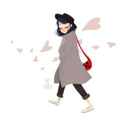 """Pffft what do you mean I """"draw that character alot""""? Psssh what … I don't know where you…I mean … yeah I do. But this Marinette drawing is different…. she's wearing a hat in this one. :P"""