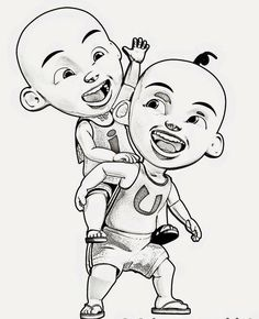 14 Best Upin Ipin Images Superhero Dan Cake Toppers
