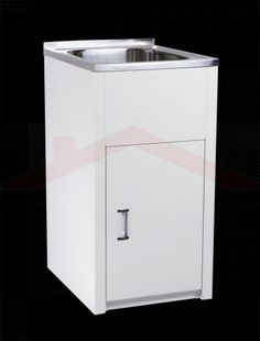 35L Laundry Tub & Compact Cabinet Stainless Steel by P &P