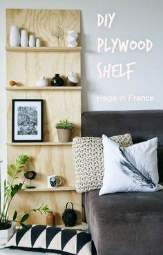 Tuesday Tips - DIY plywood shelf